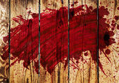 Blood on wall — Stock Photo
