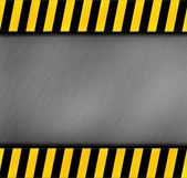 Metal warning template for you project — Stock Photo