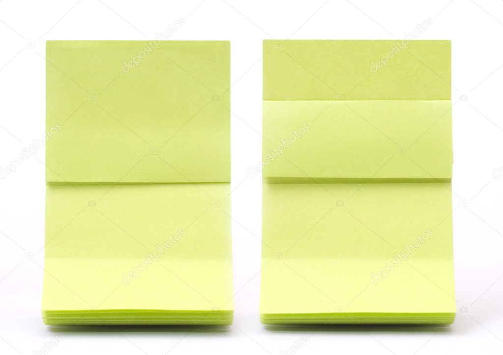 Green sticky note with shade  — Stock Photo #5029644
