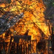 Stock Photo: House fire