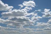 Dramatic hazardous atmosphere close up stormy clouds — Stock Photo