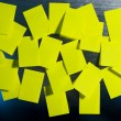 Many yellow note — Stock Photo