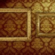 Stock Photo: Grungy antique wallpaper background with frame