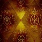 Luxury golden floral wallpaper — Stock Photo