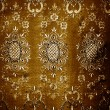 Royalty-Free Stock Photo: Grunge golden floral texture fabric