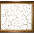 frame mit crack — Stockfoto