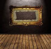 Sala de couro — Fotografia Stock