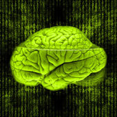 Digital brain — Stock Photo