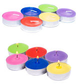 Colored candles — Stock Photo