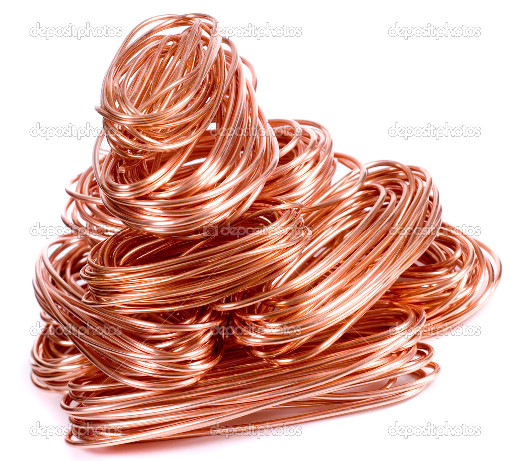 Copper wire isolated on white — Stock Photo #5350470