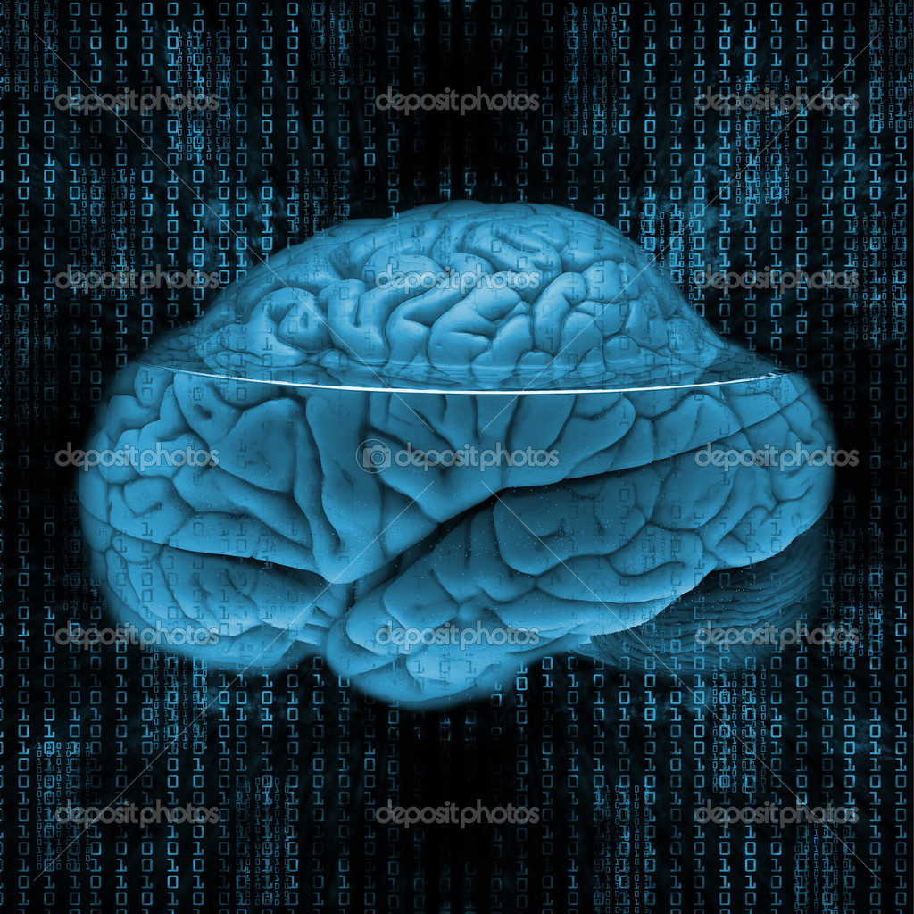 Digital brain — Stock Photo #5354474