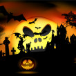 Royalty-Free Stock Vektorfiler: Vector Halloween scene