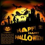 Vector Halloween flayer — Stock Vector