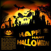 Vector flayer de halloween — Vector de stock