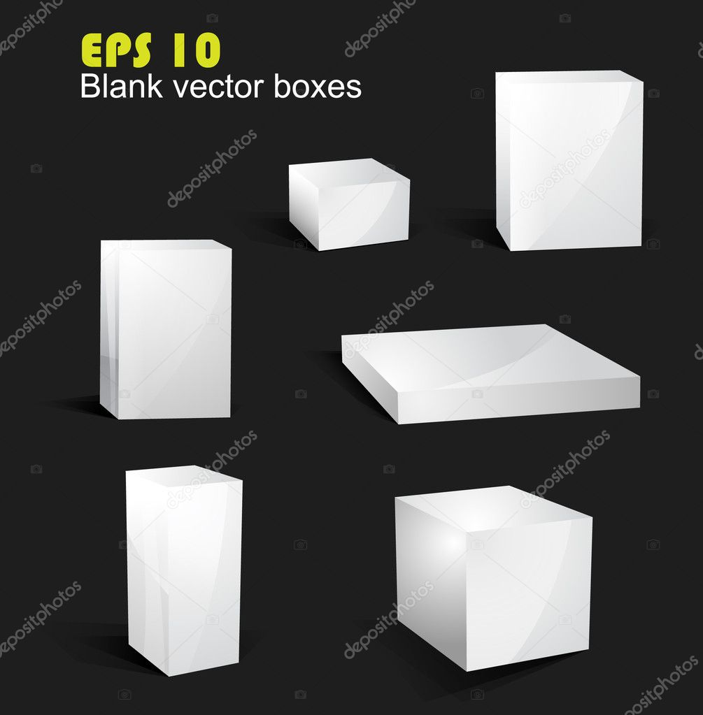 Editable vector blank boxes — Stock Vector #4103414