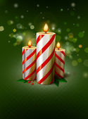 Christmas vector candles — Stock Vector