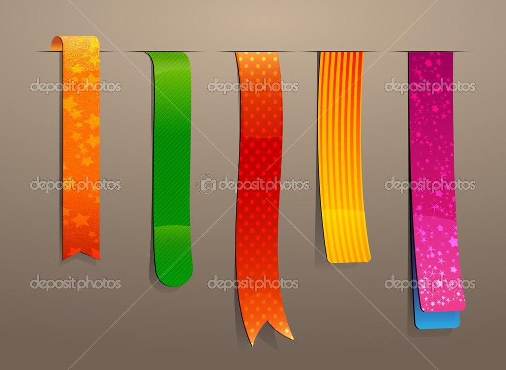 Editable bookmark set — Stock Photo #4390793