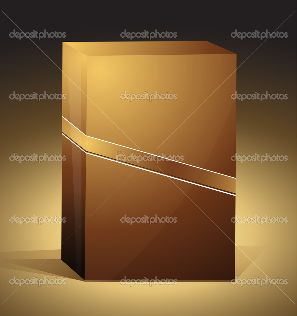 Brown box | editable EPS 10 vector box — Image vectorielle #4405599