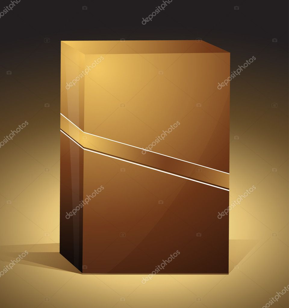 Brown box | editable EPS 10 vector box  Vettoriali Stock  #4405599