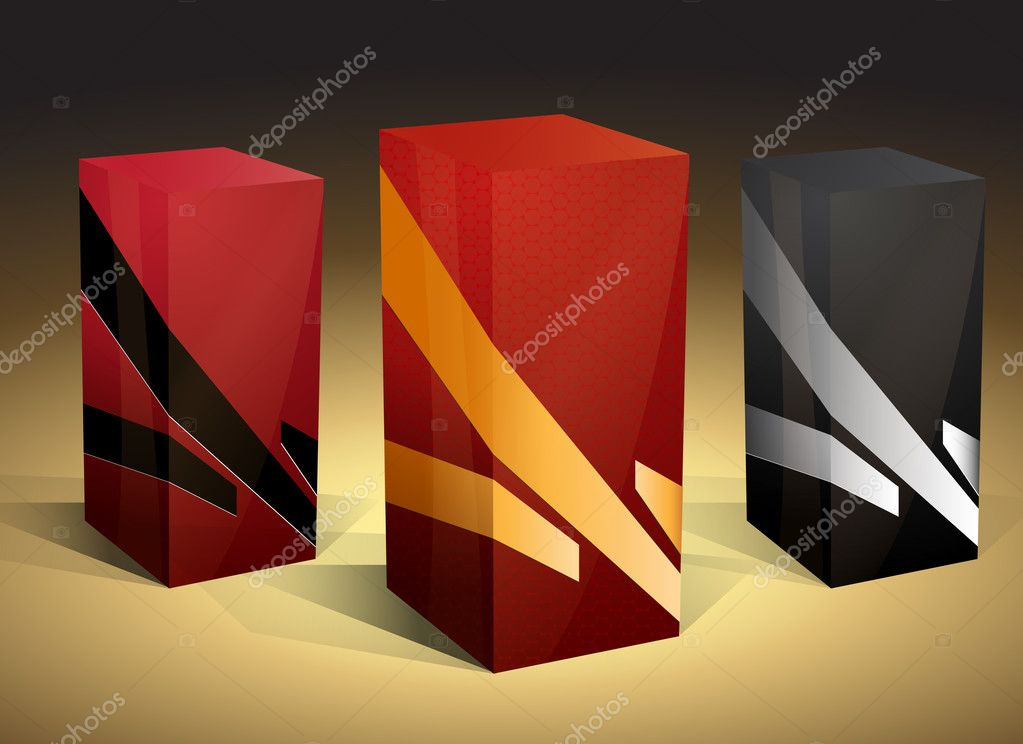 Editable EPS 10 vector packaging boxes  Imagens vectoriais em stock #4405604