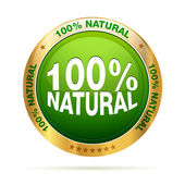 100 percent natural badge — Stok Vektör