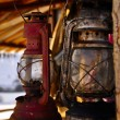 Rusted old petroleum lamps — Stock Photo