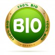 100 percent bio badge — Stock Vector