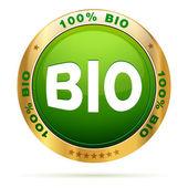 100 procent bio badge — Stockvector