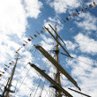 Ship Masts and Sky - Stock Photo