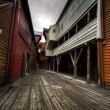 Narrow Street in HDR — Stock Photo