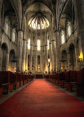 Interior of Santa Maria del Mar in Hdr — Stock Photo