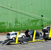 Car Transporter — Stock Photo