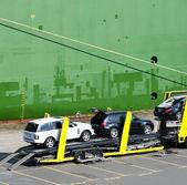Car Transporter — Stock Photo