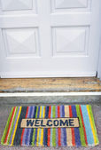 Welcome doormat — 图库照片