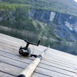 Fishing gear on jetty — Stock Photo