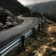 Norwegian countryroad — Stock Photo