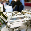 Stock Photo: Chafing dish closeup