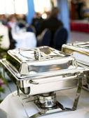 Chafing dish closeup — Stock Photo