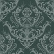 Luxury green floral damask wallpaper - Stock Vector