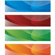 Royalty-Free Stock Vector Image: Digital banners in halftone and gradient