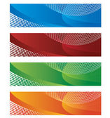 Digital banners in halftone and gradient — Stock Vector