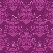 Seamless fuchsia purple floral wallpaper — Stock Vector