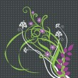Beautiful floral ornament — Stockvectorbeeld