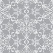 Snowflake pattern on silver background — Stock Vector #4330716