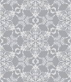 Snowflake pattern on silver background — Stock Vector