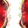 Wektor stockowy : Red & Gold Christmas border designs