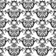 Royalty-Free Stock Vector Image: Luxury seamless black & white wallpaper