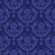 Royalty-Free Stock Vector Image: Luxury blue floral damask wallpaper