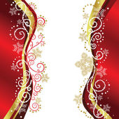 Red & Gold Christmas border designs — Vetor de Stock