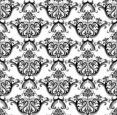 Luxury seamless black & white wallpaper — Stockvector